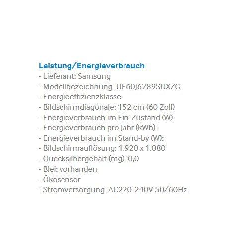 Samsung Ue60j6289 1524 Cm 60 Zoll Full Hd