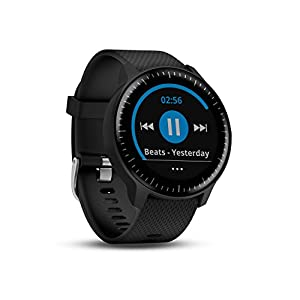 414chJ 0PIL. SS300  - Garmin Vivoactive 3 GPS Smartwatch with Built-In Sports Apps and Wrist Heart Rate - Black