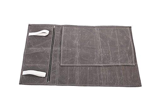 QEES Handgefertigt Messertasche Kochtasche Mehrzweck Gewachst aus Segeltuch 9 Fächer Für Köche Koch DD07