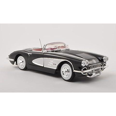 Chevrolet Corvette C1, negro/plateado , 1958, Modelo de Auto, Motormax 1:18