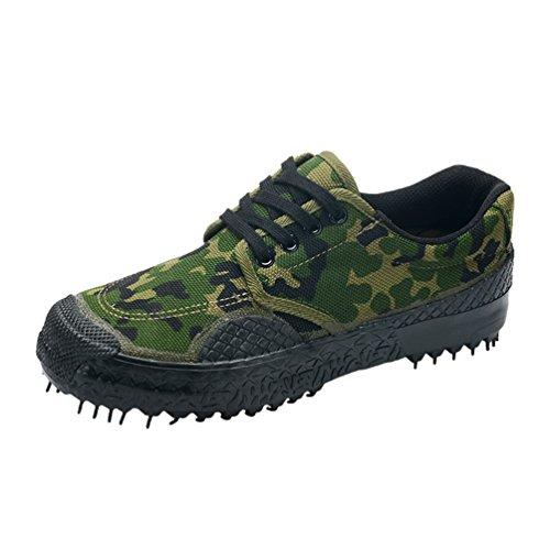 Foto de Dooxi Unisex Ocasionales Lona Zapatos Al Aire Libre Formación Deporte Zapatillas con Cordones Camuflaje