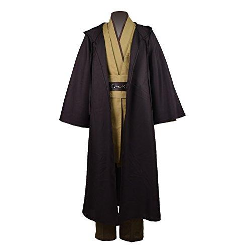 Zhangjianwangluokeji Jedi Knight Anakin Luke Skywalker Kostüm Cosplay Mantel Cosplay Kostüm Halloween Robe Outfit Anzug Mantel (S, Style ()