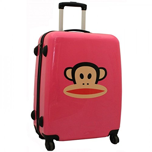 Paul Frank Cheeky Monkey Valise Rose fluo Grande taille