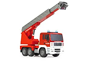 Jamara MAN 1:20 Electric engine Fire fighter truck - Radio-Controlled (RC) land vehicles (1:20, Ready-to-Run (RTR), Electric engine, Fire fighter truck, 4-wheel drive (4WD), Rojo, Color blanco)