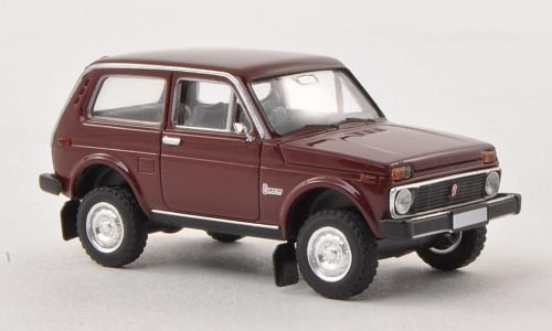 Preisvergleich Produktbild Lada Niva, dunkelrot, Modellauto, Fertigmodell, Brekina 1:87