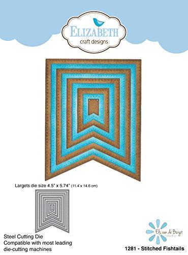 Elizabeth Craft Designs genäht Fishtails sterben, Metall, grau, 21,3x 13,7x 0,2cm