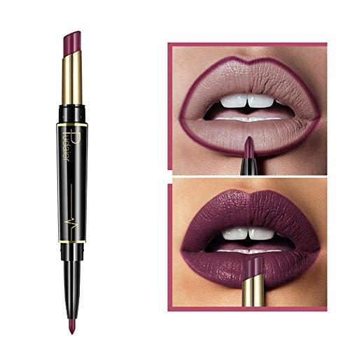 AchidistviQ Doppelt beendet lang anhaltender Lipliner Bleistift wasserdichter Matte Lippenstift Feuchtigkeitscreme 11#