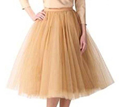 Damen Kurz Vintage Petticoat Rock Ballett Blase Tutu bunten champagnerfarben