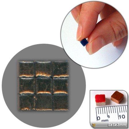 Mini Mosaïque (5x5x3mm), 1000 tesselles, Or foncé, RMG1
