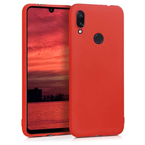 kwmobile Funda para Xiaomi Redmi Note 7 / Note 7 Pro - Carcasa para móvil en TPU Silicona - Protector Trasero en Rojo neón