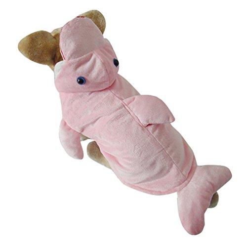 Yuncai Niedlich Stereoskopisch Delphine Haustier Hund Kleidung Lustige Halloween Party Verkleidung Kostüme für Katzen Cosplay Pink (Halloween Delphin Kostüme)