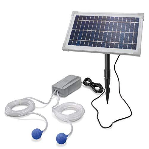 Solar Teichbelüfter Professional - 8W Solarmodul 200 l/h Luft - extragroßes Solarmodul für beste Funktion - Gartenteich Belüftung Sauerstoffpumpe Teich Luftpumpe Teichpumpe esotec pro 101845