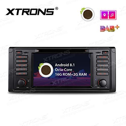 Xtrons Android 8.1 stéréo de voiture Octa Core 17,8 cm HD Digital écran tactile multipoint Bluetooth Autoradio Autoradio multimedia player support WIFI GPS vidéo 4 K lecteur DVD de voiture pour BMW E39