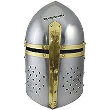 Thor Instrumentos Co - Casco medieval para disfraz, acabado cromado