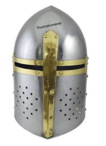 Thor Instruments - Zuccheriera a forma di elmetto medievale, finiture cromate