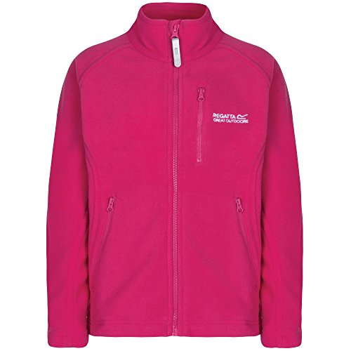 Regatta Boys & Girls Marlin IV Full Zip Microfleece Jacket Black