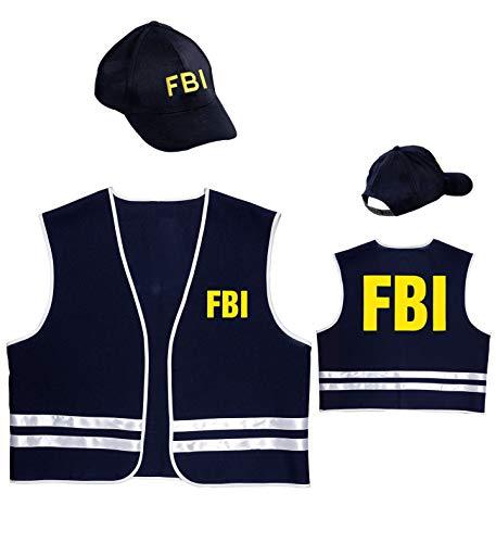 Agent Fbi Kostüm - Widmann wdm58959-Kostüm Agent FBI, blau, LARGE