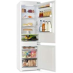 Klarstein CoolZone - Combiné Réfrigérateur Congélateur, Encastrable, 241L, 41dB, A+, blanc