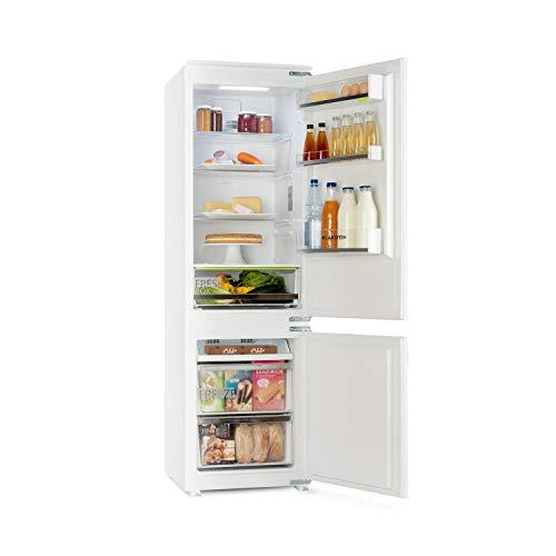 Klarstein CoolZone - Kühl-Gefrier-Kombination, Einbau Kühlschrank, EEK: A+, NoFrost, 241 Liter Gesamtvolumen, 54 x 177 x 54 cm (BxHxT), 283 kWh/Jahr, 41 dB leise, weiß