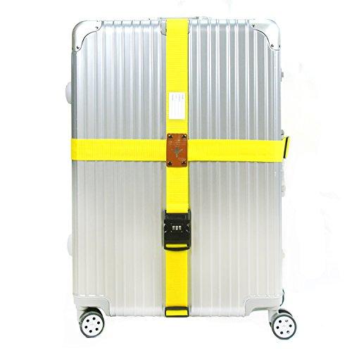 CHMETE 2 piezas Long Straight Cross Correas de equipaje Número de bloqueo para 20