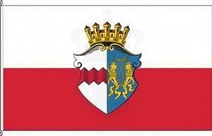 Königsbanner Hochformatflagge Markt Indersdorf - 120 x 300cm - Flagge und Fahne