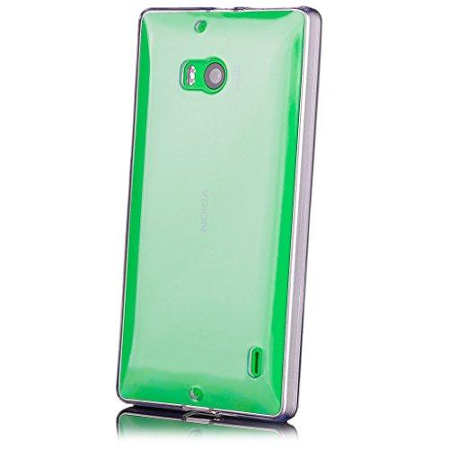 iCues | Nokia Lumia 930 | trasparente TPU Chiaro | protettore foglio trasparente della cassa della pelle del gel Sereno Sereno silicone prot [Screen protector Compreso] Custodia Cover Case Tasca Borsa