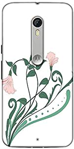 Snoogg Creative Vintage Flourish Designer Protective Back Case Cover for Motorola Moto X Style