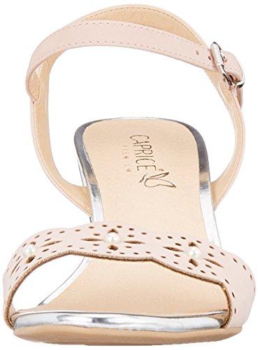 Caprice Damen Slingback Sandalen, Pink (Rose Waxy Nap 562), 40 EU