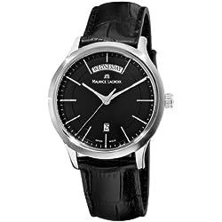 Maurice Lacroix Men's LC1007-SS001330 Les Classiques Quartz Black Day Date Dial Watch