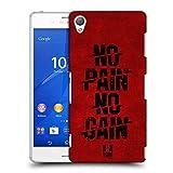 Head Case Designs No Pain No Gain Fitness Typographie Ruckseite Hülle für Sony Xperia Z3