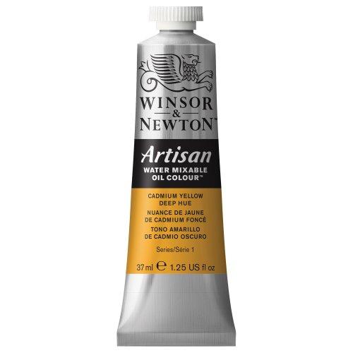 winsor-newton-artisan-tubo-oleo-miscible-en-agua-37-ml-tono-amarillo-de-cadmio-oscuro