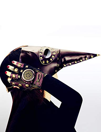 Teufel Kostüm Frauen Beängstigend - Horror Halloween, Steampunk Scharfen Mund Beängstigend Cosplay Zombie Teufel Pest Maskerade Party Kostüm Maske,A106