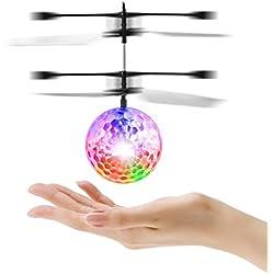 FairytaleMM Infrarrojo de inducción Flying Flash Disco Colorido LED Ball Helicóptero Kids Toy (Color: Colorido)