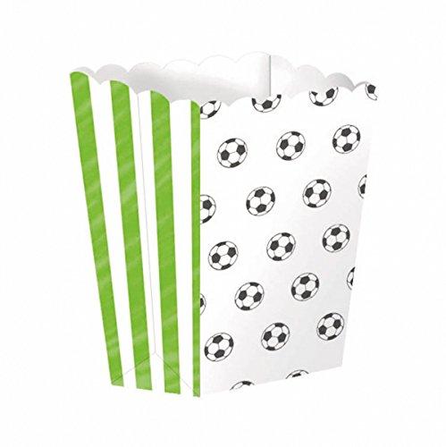 studio four Tisch Dekoration Popcorn Boxes Fußball Feier 4 Stück, Mehrfarbig