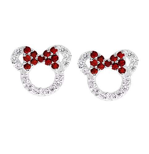 RC Ohrringe für Damen und Mädchen, 925 Sterlingsilber, Zirkonia, Schleife