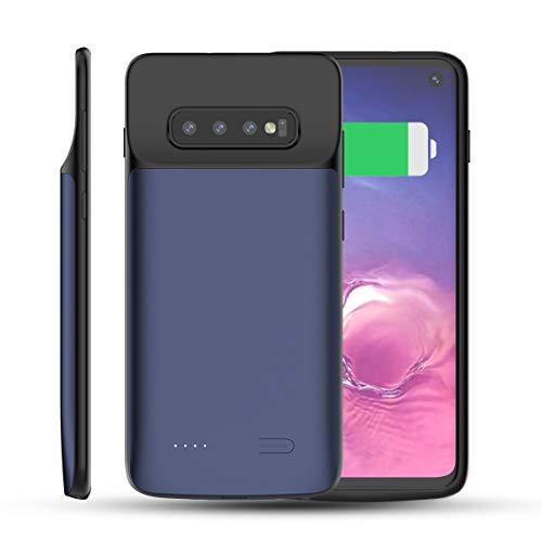 FugouSell Custodia Batteria Samsung Galaxy S10, 5000mAh Power Bank Caricabatterie Portatile Cover Protettiva con Batteria Esterna Case per Samsung Galaxy S10 (Blu)