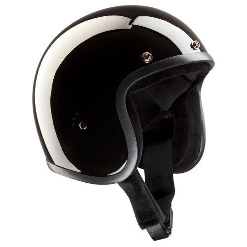 Casco Jet bandido - negro brillante casco de moto negro brillante Talla:M