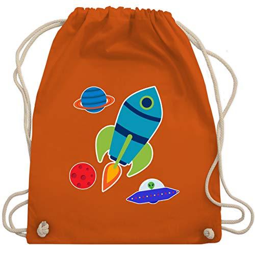 Bunt gemischt Kinder - Comic Weltall - Unisize - Orange - WM110 - Turnbeutel & Gym Bag