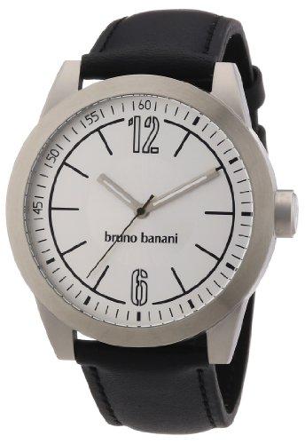 Bruno Banani - BR21109 - Montre Homme - Quartz Analogique - Bracelet Cuir Argent