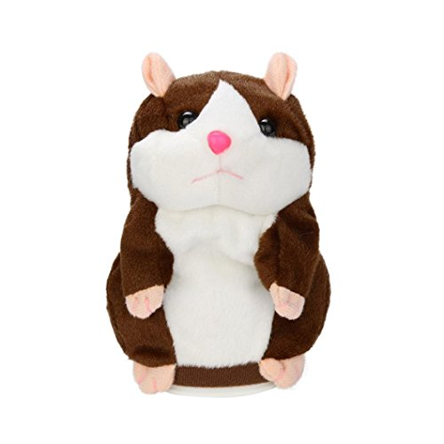 OHQ Adorable Interessant Sprechen Sprechen Rekord Hamster Maus Plüsch Kinder Spielzeug (Hamster Kostüme Sexy)