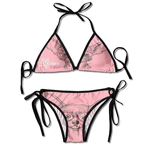 Custom Pattern Swirl Fixed Top Reversible Bikini Swimsuit for Women - Reversible Bikini Brief