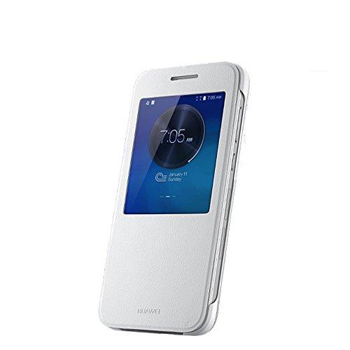 Huawei 51990737 View Flip Hülle für Ascend G7 weiß