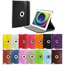 SODIAL(R) Funda de Cuero con Soporte para iPad 2, 360 Grados Giratorio Magnetico