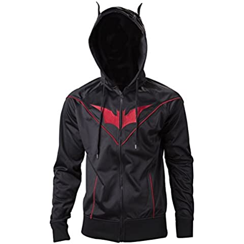 Meroncourt Dc Comics Injustice-Gods Among Us Batman Red Logo, Capucha Para Hombre