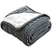 XDFCV Textiles,warmes Innenzubehör Winter verdicken Warm Plus Velvet Line Decke Stricken Sofa Freizeit Decke