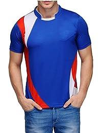 Scott Men's Jersey Collar Neck Sports Dryfit T-shirt - Royal Blue