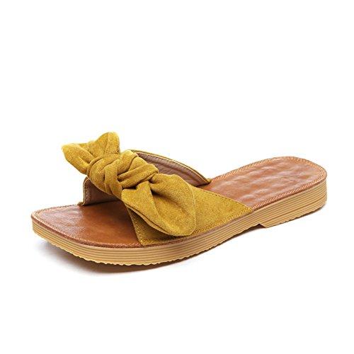 Pantofole di usura estiva/Sandali delle signore legate da arco A