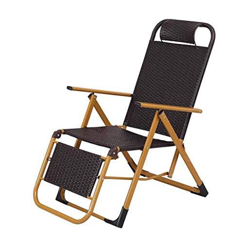 chaise de jardin – L.ORE Fauteuil Pliant inclinable en rotin ...