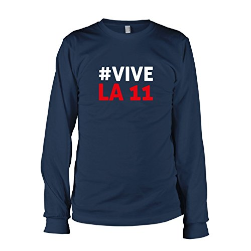 TEXLAB - Polska Vive La 11 - Herren Langarm T-Shirt, Größe XXL, (Kostüme Team Fußball Maskottchen)