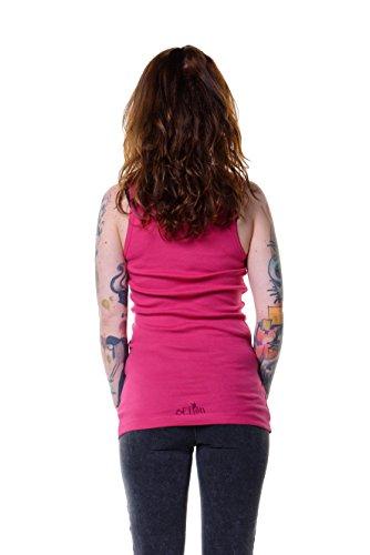 Tanktop Shirt Damenoberteil mit Aufdruck Elfe und Schmetterling von 3 Elfen Pink